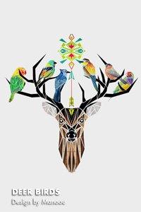 DEER BIRDS  Design by Manoou