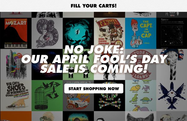 Fill your carts!
