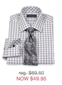 2-Ply Grid Dress Shirt