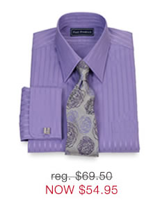 2-Ply Satin Stripe Dress Shirt