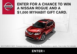 Win a Nissan Rogue & $1,000 MyHabit gift card