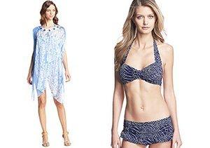 Shades of Blue: Swimwear & Cover-Ups