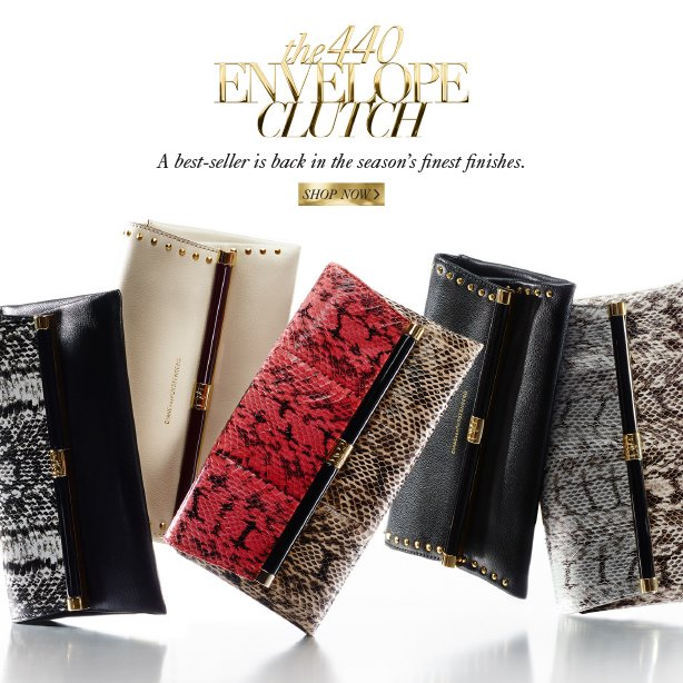 The 440 Envelope Clutch: A best-seller is back in the season's finest finishes. Shop Now.