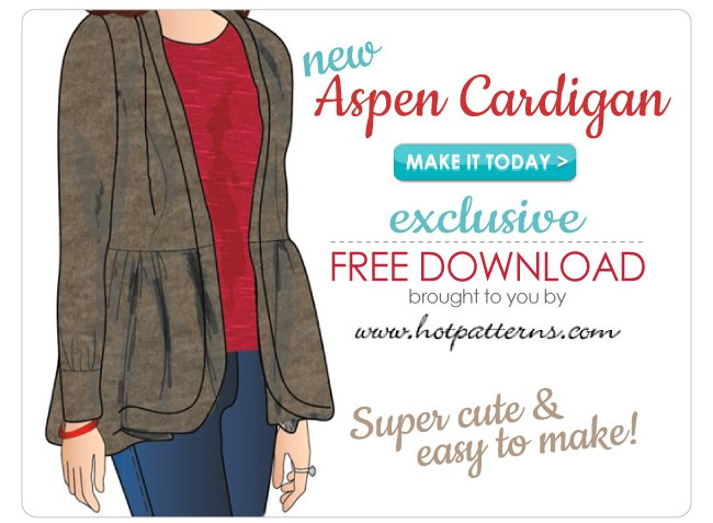 Fabric Exclusive Free Pattern Download The Aspen Cardigan From Beauteous Hot Patterns