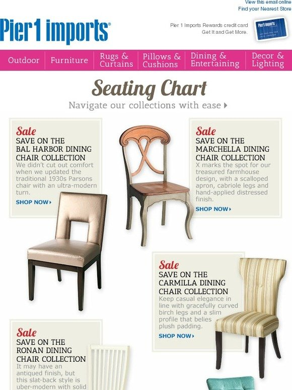 Pier 1 Take A Seat Dining Chairs 101 Is About To Begin