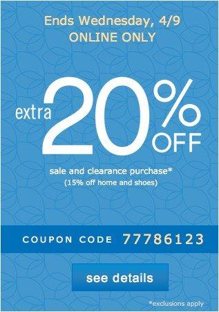 Belk online coupon 20 off