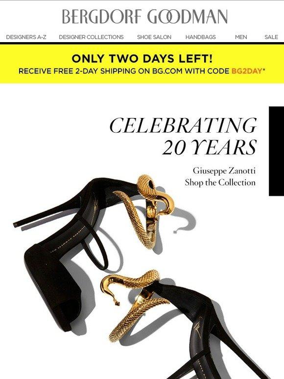 71316553ba49e Bergdorf Goodman: Celebrate 20 Years of Giuseppe Zanotti | Milled