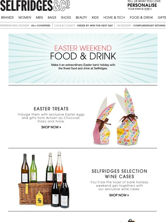 Selfridges co luxury easter eggs wine cases exclusive coca selfridges co luxury easter eggs wine cases exclusive coca cola and more milled negle Image collections