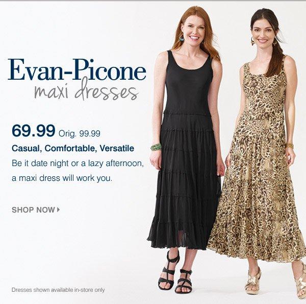 Bonton Maxi Dresses From Evan Picone Casual Comfortable