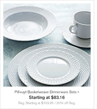 Apilco Tradition Porcelain Dinnerware Collection - Special Price $25.60 u2013 $243.20 - Reg. $32 u2013 & Williams-Sonoma: Set the Table for Easter: 20% on Select Dinnerware ...