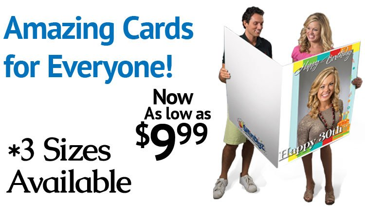 Shindigz give them the biggest personalized card ever milled shop all giant greeting cards m4hsunfo