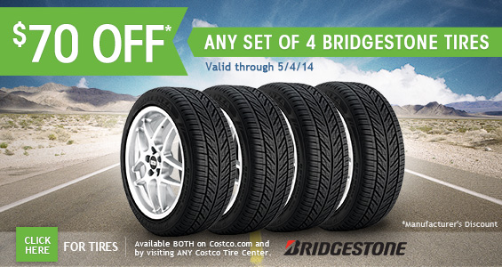Costo: Additional Savings on Bridgestone Tires, Mother's Day Flowers