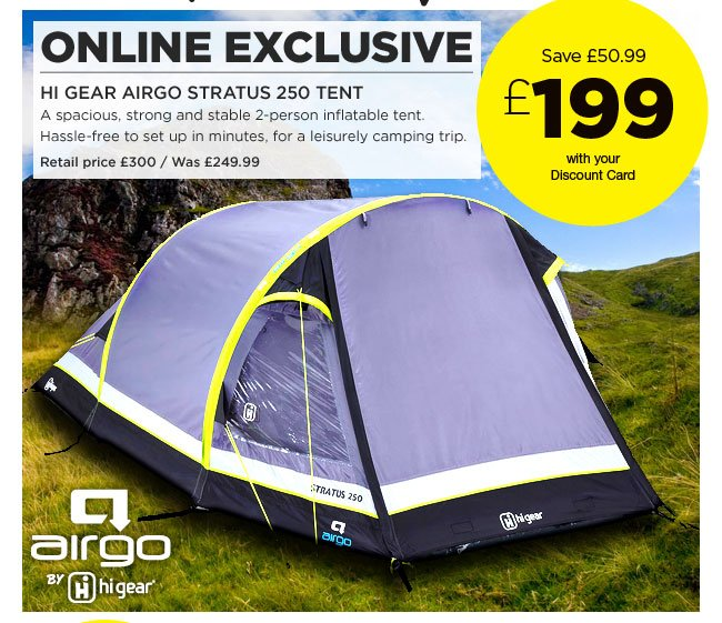 Hi Gear Airgo Stratus 250 Tent  sc 1 st  Milled & Go Outdoors: WOW! New Hi Gear Airgo Stratus 250 inflatable tent ...