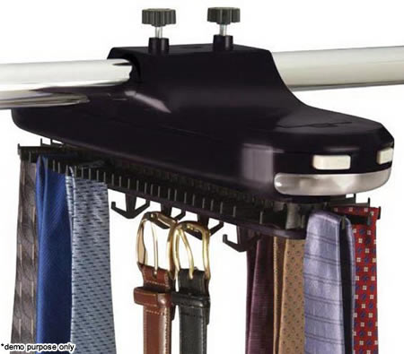 Attractive Electronic Revolving Tie U0026 Belt Closet Rack With LED Light   KT 1(KT