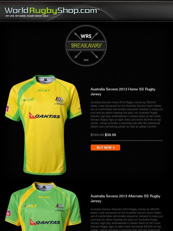 World Rugby Shop Deal Alert Shop 15 Incredible Sevens Rugby Jersey