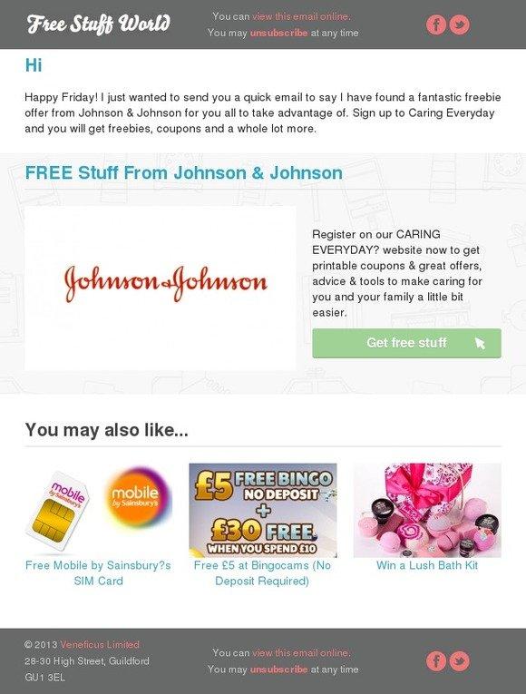 Free Stuff World: Free stuff from Johnson & Johnson | Milled