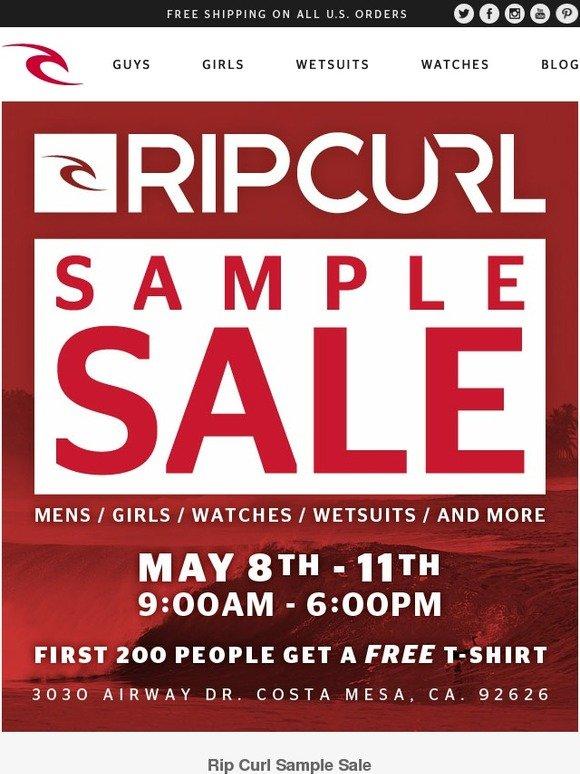 Rip Curl: Rip Curl Sample Sale: May 8th - May 11th, Costa Mesa, Ca ...