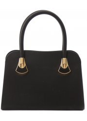 Cate Black Tactile Silicone Small Tote Bag