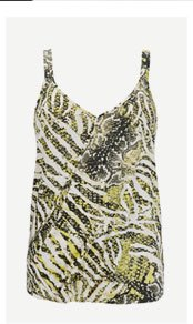 Green Animal Print Camisole