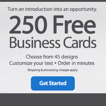 Walmart Vistaprint 250 Free Business Cards Milled