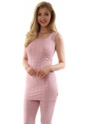 Rianne Pink Cut Vesty With Silver Circles