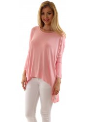 Oversized Crepey New Lizzie Pink Slouch Top