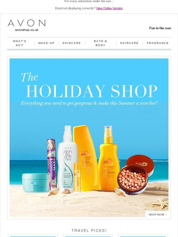 Avon UK: The Holiday Shop is open! | Milled