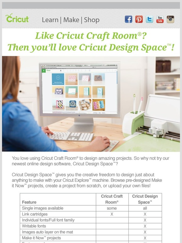 Cricut Cricut Design Space vs Cricut Craft Room Milled
