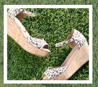 Snow Leopard Women's Platform Wedges