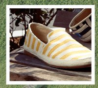 Mustard Safari Stripe Men's Sabados