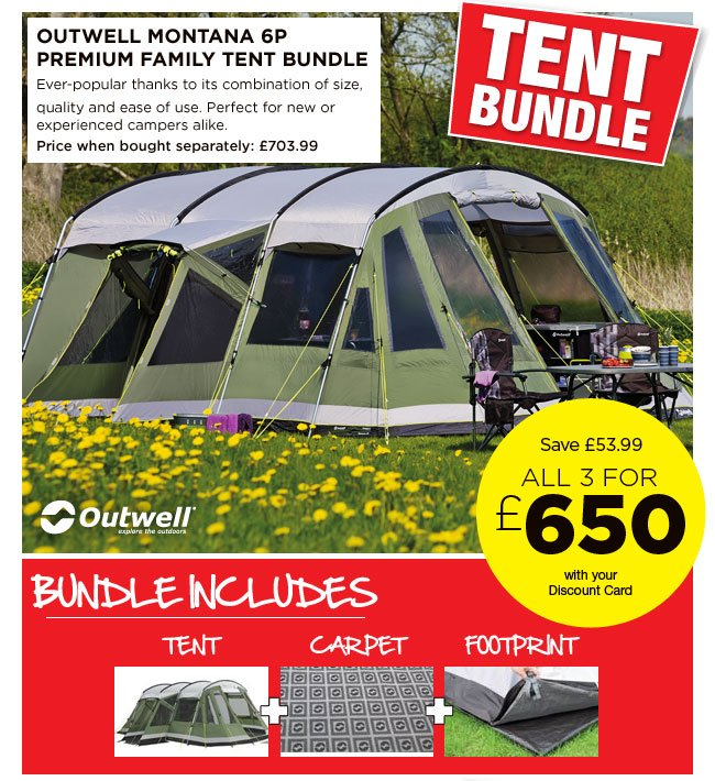 Outwell Montana 6P Premium Family Tent  sc 1 st  Milled & Go Outdoors: WOW great tent bundle deals - save on bundles from ...