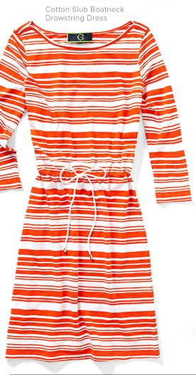 Stripes and sand - a perfect match.