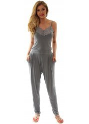 Chillings French Grey Loose Fit Harem Pants