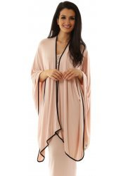 Slingie Nude Blush Throw Around Wrap With Black Trim