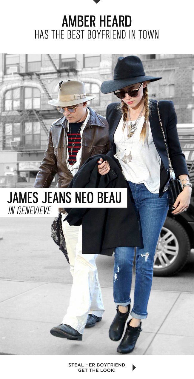 durable service dirt cheap wide selection James Jeans: Steal Amber Heard's Boyfriend: Neo Beau in ...