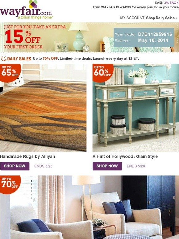 Wayfair Our Furniture Clearance Starts Now Milled