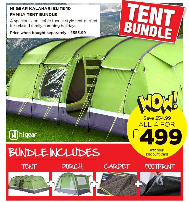 Hi Gear Kalahari Elite 10 Family Tent  sc 1 st  Milled & Go Outdoors: Get ready for summer with great deals on tent bundles ...