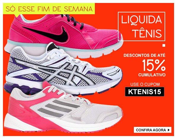 15% em calcados - Nike, Adidas e Asics