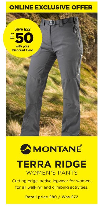 Montane Terra Ridge Women's Pants