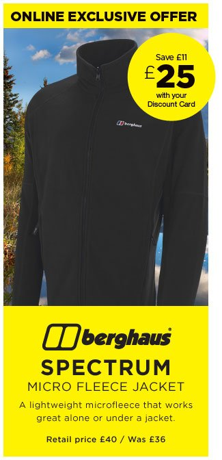 Berghaus Mens Spectrum Micro Full Zip Fleece Jacket