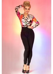 Multicoloured Print Cross Over Lola Jumpsuit