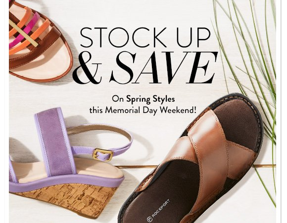 Stock Up & Save On Spring Styles this Memorial Day Weekend!