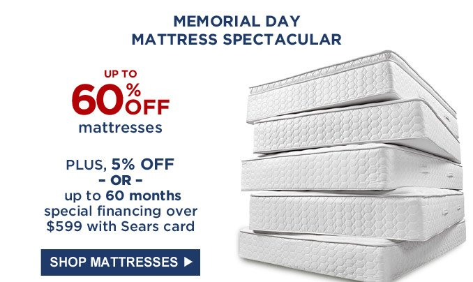 Sears Memorial Day Sale Appliance Super Buys Mattress