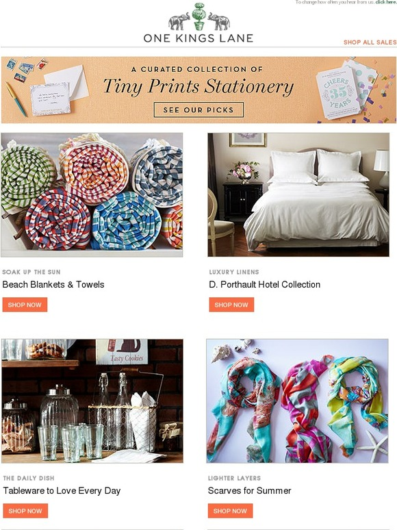 One Kings Lane Our Exclusive Agate Accents Tiny Prints Stationery