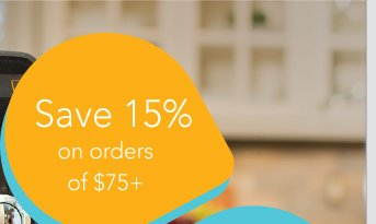 Save 15% on orders of $75+