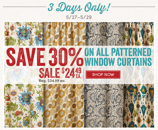 Curtains Ideas cost plus curtains : Cost Plus World Market: 30% off ALL Patterned Window Curtains. 3 ...