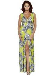 Natalie Green Printed Summer Maxi Dress