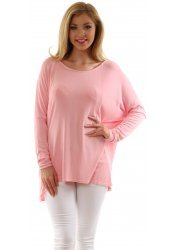 Oversized Pink Jessica Crepey Slouch Top