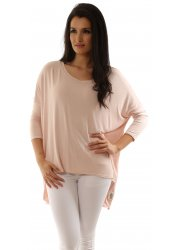Oversized Crepey New Lizzie Nude Blush Slouch Top