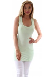 New Shorter Cut Limone Green Sleeveless Vesty